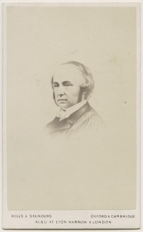 Benjamin Jowett, by Hills & Saunders, after  Unknown artist, 1860s - NPG Ax18293 - © National Portrait Gallery, London