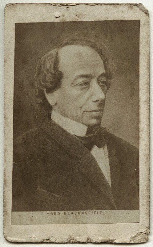 Benjamin Disraeli, Earl of Beaconsfield, after Unknown artist, 1860s - NPG Ax18295 - © National Portrait Gallery, London