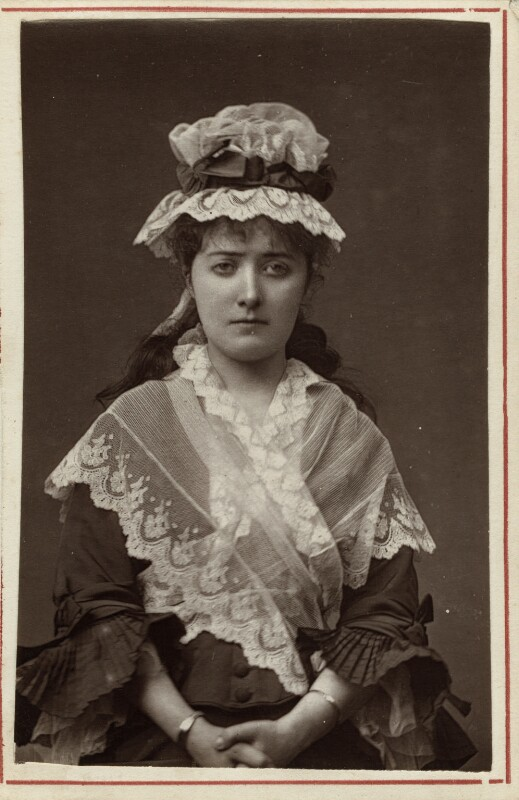 Clara Marion Jessie Rousby (née Dowse) as Charlotte Corday, by Unknown photographer, 1870s - NPG Ax7606 - © National Portrait Gallery, London