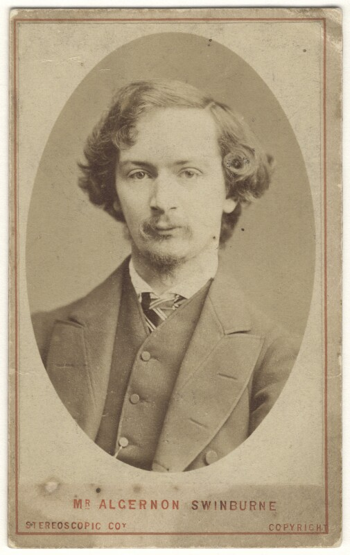 Algernon Charles Swinburne, by London Stereoscopic & Photographic Company, circa 1865 - NPG x24806 - © National Portrait Gallery, London