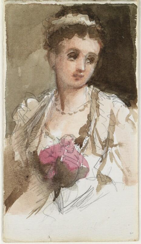 Unknown woman, by Louisa Anne Beresford, 12 December 1887 - NPG D23146(3) - © National Portrait Gallery, London