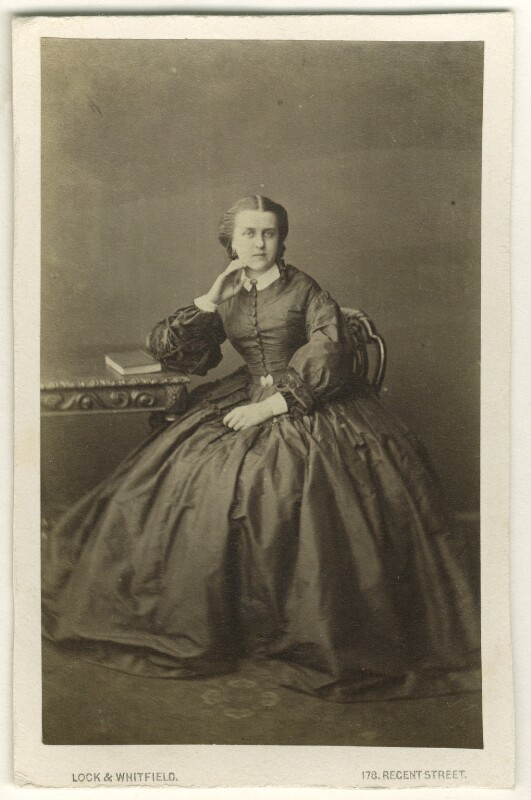 Lady Edith Isabella Adeane (née Dalzell), by Lock & Whitfield, 1860s - NPG Ax46320 - © National Portrait Gallery, London