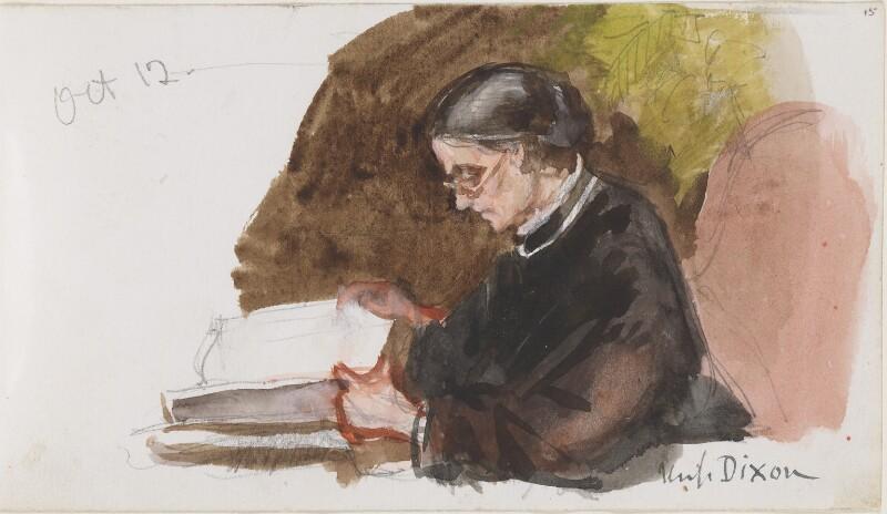 Annie Dixon, by Louisa Anne Beresford, 12 October 1887 - NPG D23146(15) - © National Portrait Gallery, London