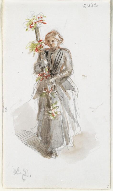 Eleanor Vere Boyle (née Gordon), by Louisa Anne Beresford (née Stuart), Marchioness of Waterford, 21 July 1888 - NPG D23146(50) - © National Portrait Gallery, London