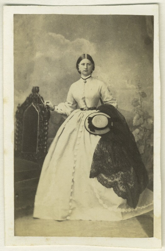 Hon. Mary Lincoln Thesiger, by W. Hilliger, 1860s - NPG Ax46335 - © National Portrait Gallery, London