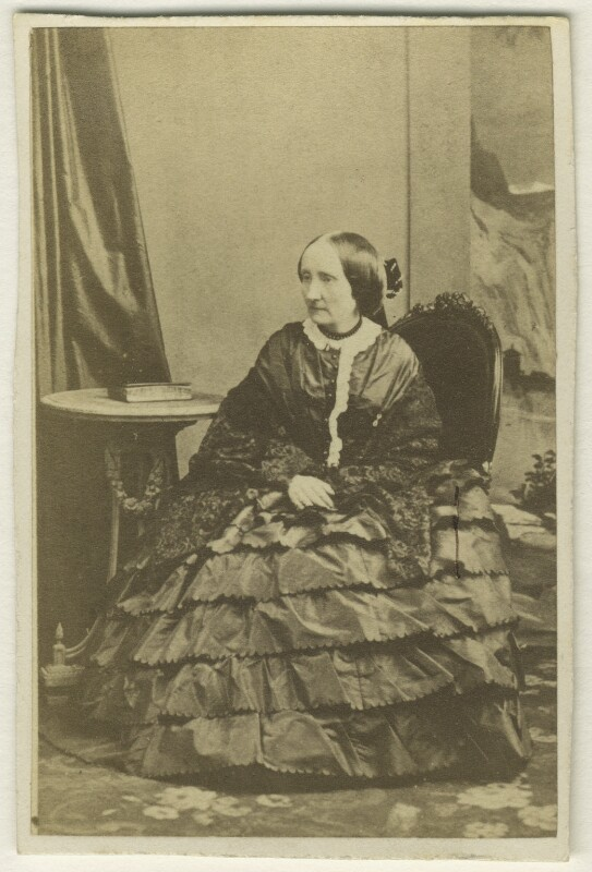 Selina Frances Fitzwygram, by Unknown photographer, 1860s - NPG Ax46340 - © National Portrait Gallery, London