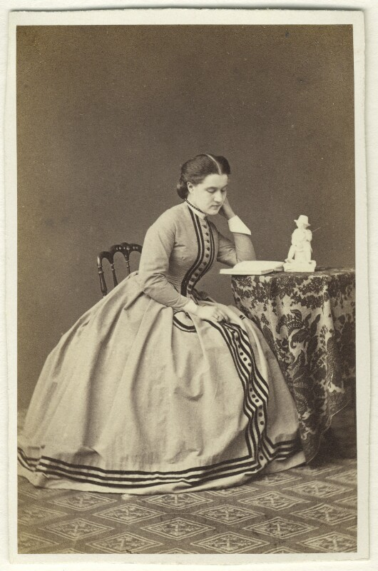 Edith Marion (née Story), Marchesa Peruzzi di Medici, by Michele Mang & Co, 1864 - NPG Ax46374 - © National Portrait Gallery, London