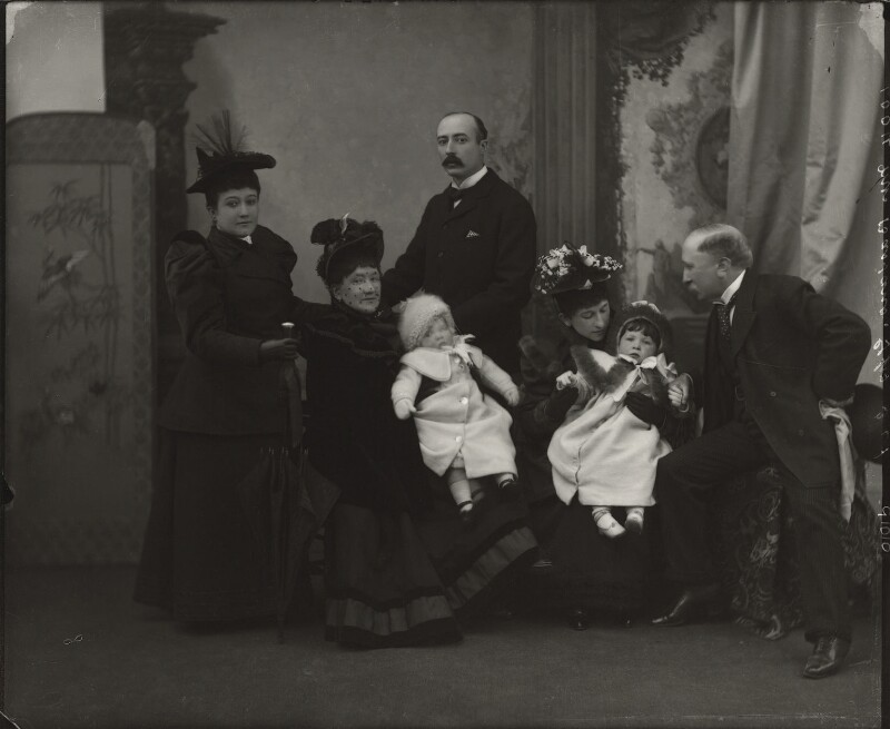 The Bassano family, by Alexander Bassano, mid 1890s - NPG x150676 - © National Portrait Gallery, London