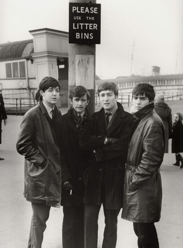 The Beatles (Paul McCartney; Ringo Starr; John Lennon; George Harrison), by Michael Ward, 20 February 1963 - NPG x128565 - © Michael Ward Archives