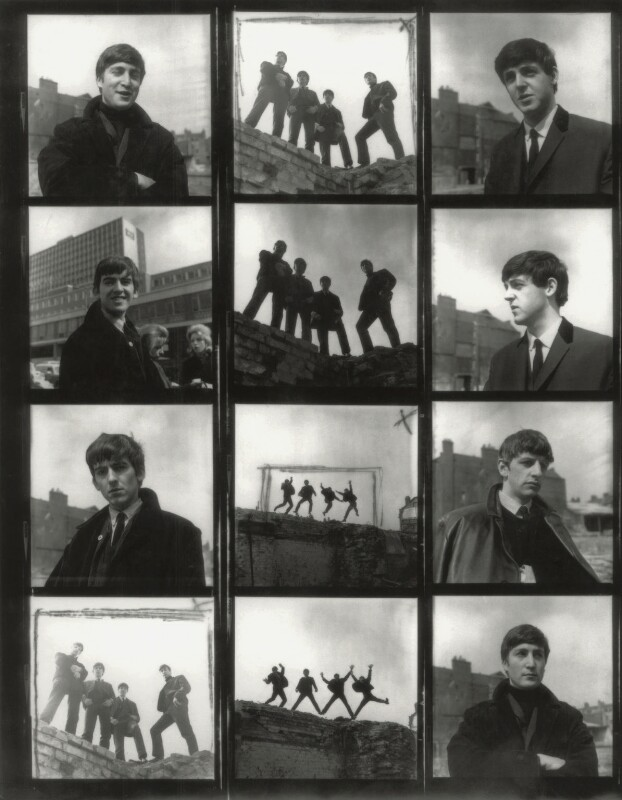 The Beatles (Ringo Starr; George Harrison; Paul McCartney; John Lennon), by Fiona Adams, 1963 - NPG x128567 - © Fiona Adams