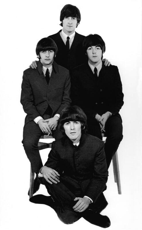 The Beatles (Ringo Starr; John Lennon; George Harrison; Paul McCartney), by Robert Whitaker, 1965 - NPG x128568 - Photograph Robert Whitaker
