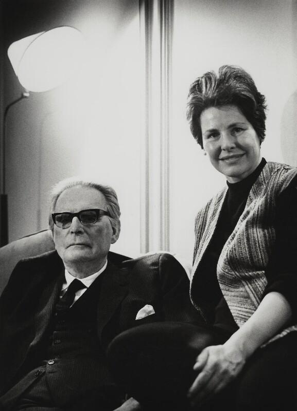 Otto Klemperer; Lotte Klemperer, by Godfrey Argent, 4 February 1969 - NPG x19161 - © National Portrait Gallery, London