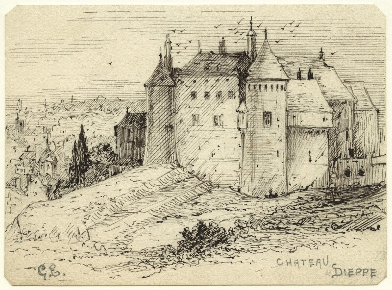 Chateau Dieppe, by George Estall, late 19th century - NPG D23170 - © National Portrait Gallery, London