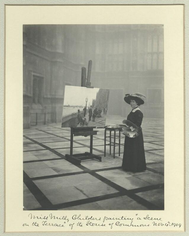 Emily Maria Eardley ('Milly') Childers, by Benjamin Stone, 4 November 1909 - NPG x19937 - © National Portrait Gallery, London