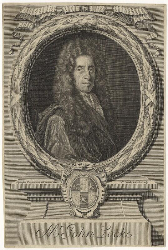 John Locke, by Peter Vanderbank (Vandrebanc), after  Sylvester Brounower, late 17th century - NPG D20844 - © National Portrait Gallery, London
