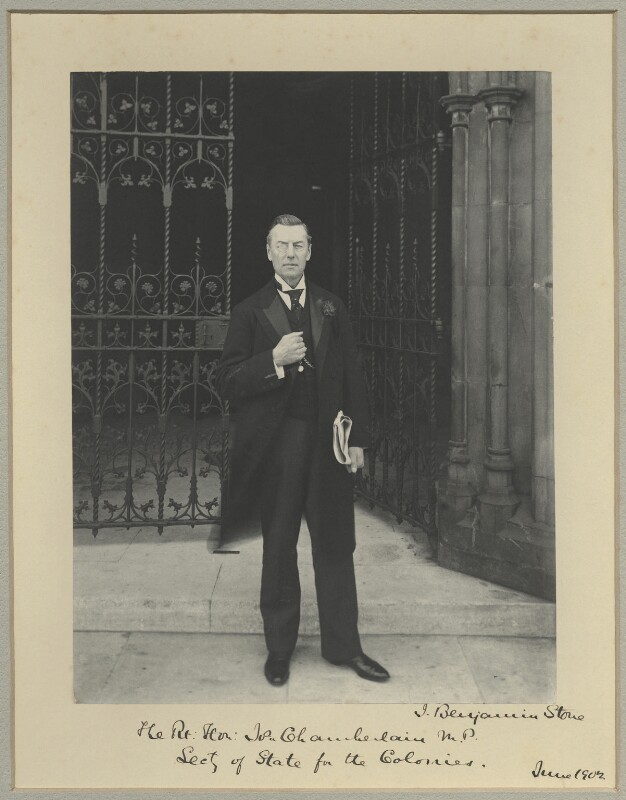 Joe Chamberlain, by Benjamin Stone, June 1902 - NPG x9248 - © National Portrait Gallery, London