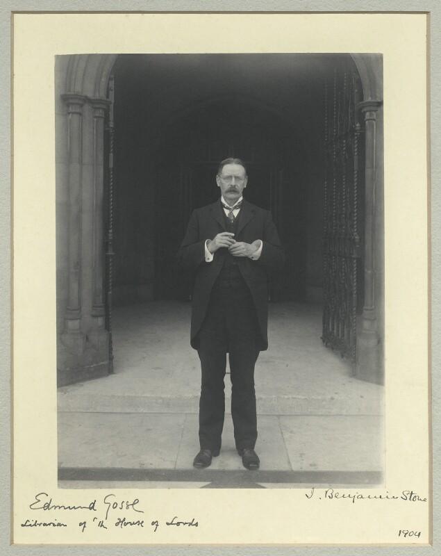 Sir Edmund William Gosse, by Sir (John) Benjamin Stone, 1904 - NPG x19939 - © National Portrait Gallery, London