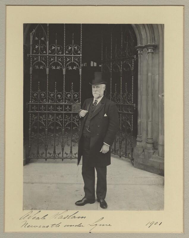 Sir Alfred Seale Haslam, by Benjamin Stone, 1901 - NPG x20367 - © National Portrait Gallery, London