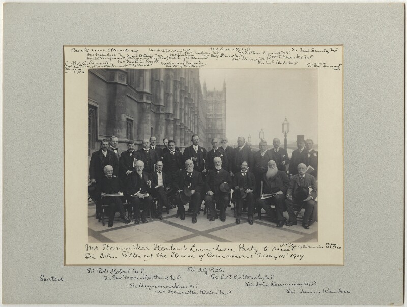 'Mr Henniker Heaton's Luncheon Party to meet Sir John Pilter', by Sir (John) Benjamin Stone, 19 May 1909 - NPG x128578 - © National Portrait Gallery, London