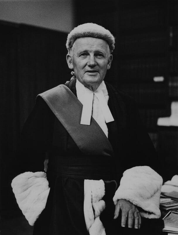 Sir Helenus Patrick Joseph Milmo, by Godfrey Argent, 22 October 1969 - NPG x165828 - © National Portrait Gallery, London