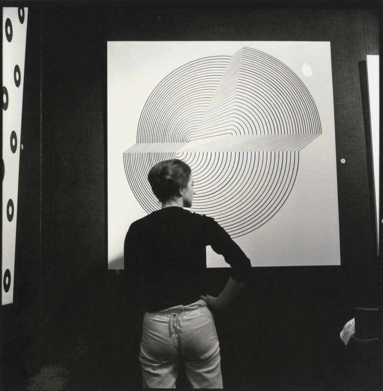 Bridget Riley, by Ida Kar, 1963 - NPG x128599 - © National Portrait Gallery, London