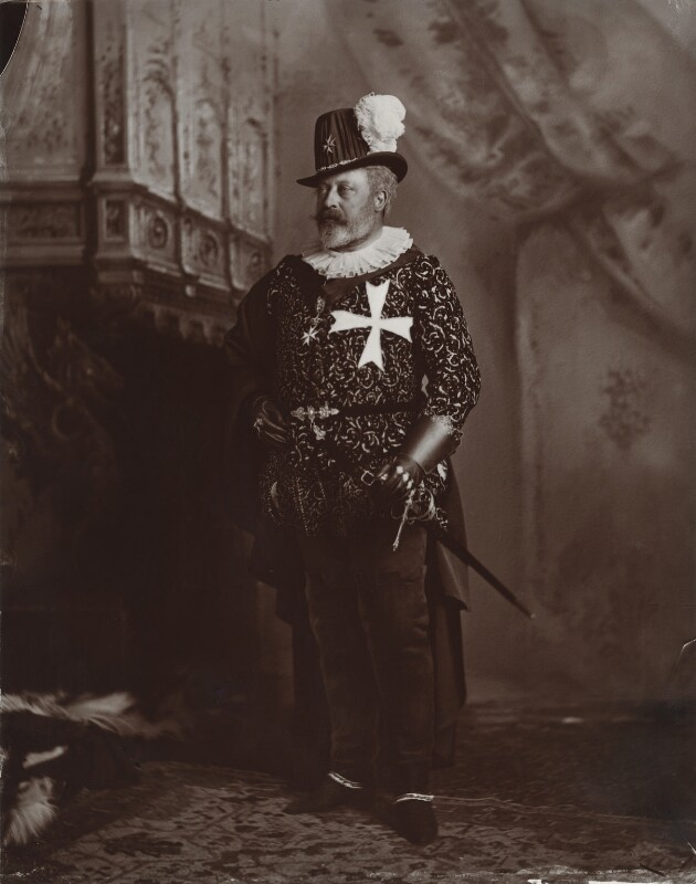 King Edward VII when Prince of Wales as Grand Prior of the order of St John of Jerusalem, by Lafayette (Lafayette Ltd), 2 July 1897 - NPG x128600 - © National Portrait Gallery, London