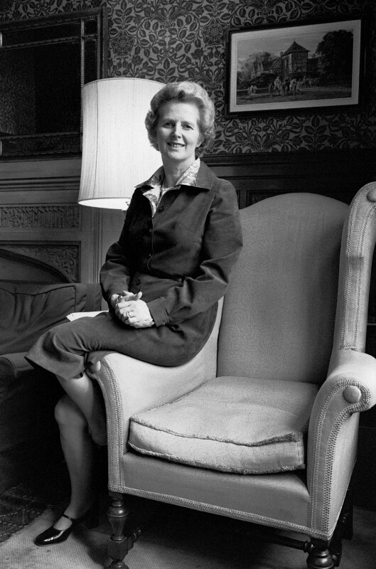 Margaret Thatcher, by Robin Laurance, February 1975 - NPG x128604 - © Robin Laurance / National Portrait Gallery, London