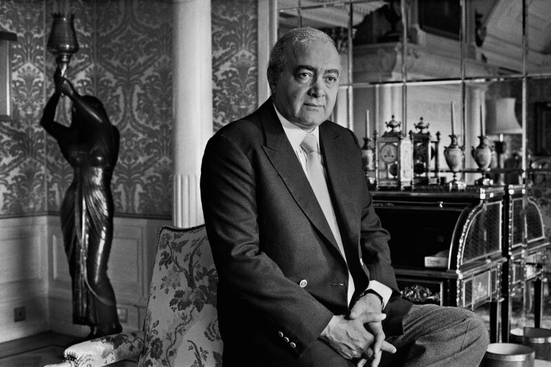 Mohamed al-Fayed, by Robin Laurance, 1980 - NPG x128605 - © Robin Laurance / National Portrait Gallery, London