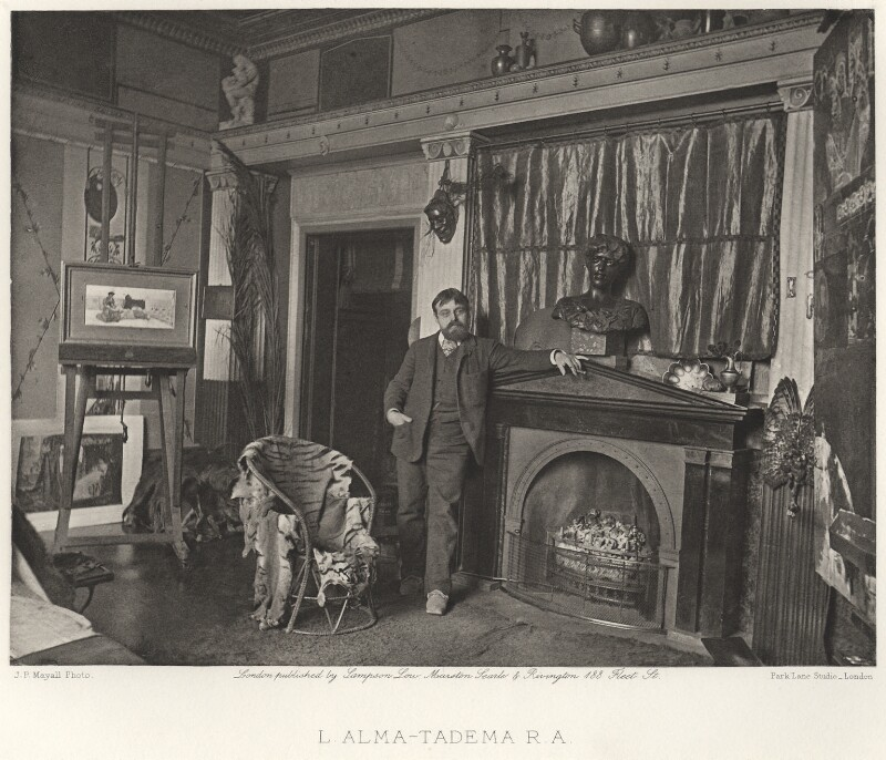 Sir Lawrence Alma-Tadema, by and published by Sampson Low, Marston, Searle and Rivington, after  Frank Dudman, for  Joseph Parkin Mayall, circa 1883, published 1884 - NPG Ax27822 - © National Portrait Gallery, London