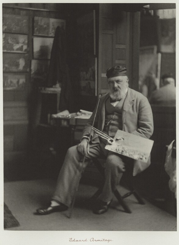 Edward Armitage, by Ralph Winwood Robinson, published by  C. Whittingham & Co, circa 1889, published 1892 - NPG x7348 - © National Portrait Gallery, London