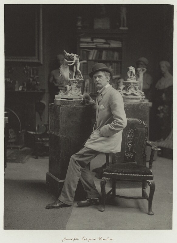 Sir Joseph Edgar Boehm, 1st Bt, by Ralph Winwood Robinson, published by  C. Whittingham & Co, circa 1889, published 1892 - NPG x7352 - © National Portrait Gallery, London
