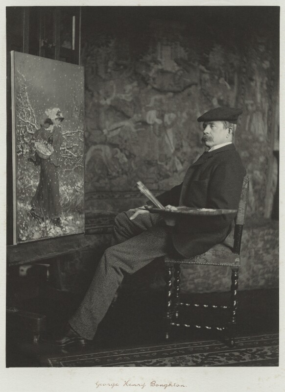 George Henry Boughton, by Ralph Winwood Robinson, published by  C. Whittingham & Co, circa 1889, published 1892 - NPG x7353 - © National Portrait Gallery, London