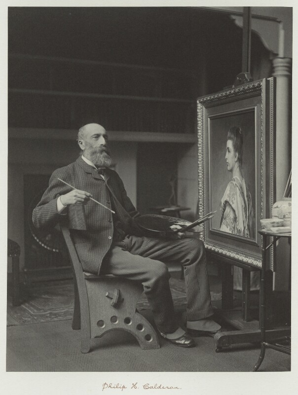 Philip Hermogenes Calderon, by Ralph Winwood Robinson, published by  C. Whittingham & Co, published 1892 - NPG x7356 - © National Portrait Gallery, London
