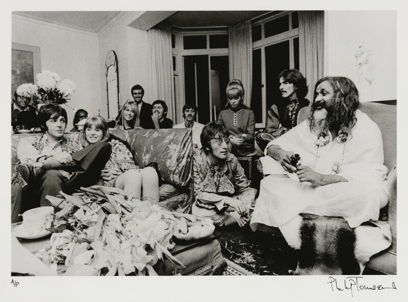 The Beatles with Maharishi Mahesh Yogi, by Philip Townsend, 31 August 1967 - NPG x128616 - © Philip Townsend Archive