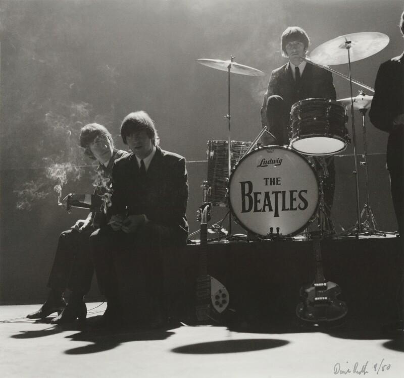 The Beatles (George Harrison; John Lennon; Ringo Starr), by David Redfern, 3 October 1964 - NPG x128617 - © David Redfern