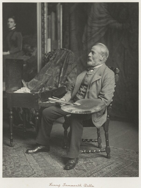Henry Tanworth Wells, by Ralph Winwood Robinson, published by  C. Whittingham & Co, published 1892 - NPG x7400 - © National Portrait Gallery, London