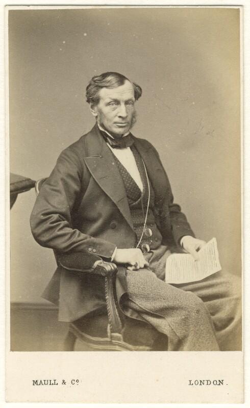 Sir Daniel Gooch, 1st Bt, by Maull & Co, 1860s - NPG Ax46465 - © National Portrait Gallery, London