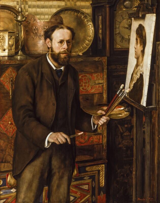 John Collier, by Marian Collier (née Huxley), circa 1882-1883 - NPG 6811 - © National Portrait Gallery, London