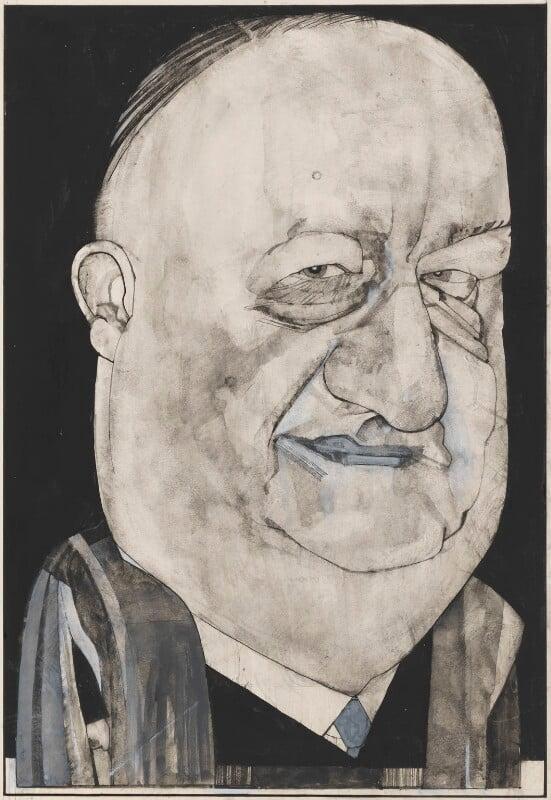 Richard Austen ('Rab') Butler, 1st Baron Butler of Saffron Walden, by Barry Ernest Fantoni, 1960s-1970s - NPG 6776 - © National Portrait Gallery, London