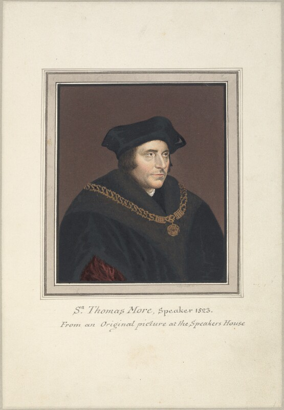 Sir Thomas More, attributed to Thomas Athow, after  Hans Holbein the Younger, early 19th century - NPG D23246 - © National Portrait Gallery, London