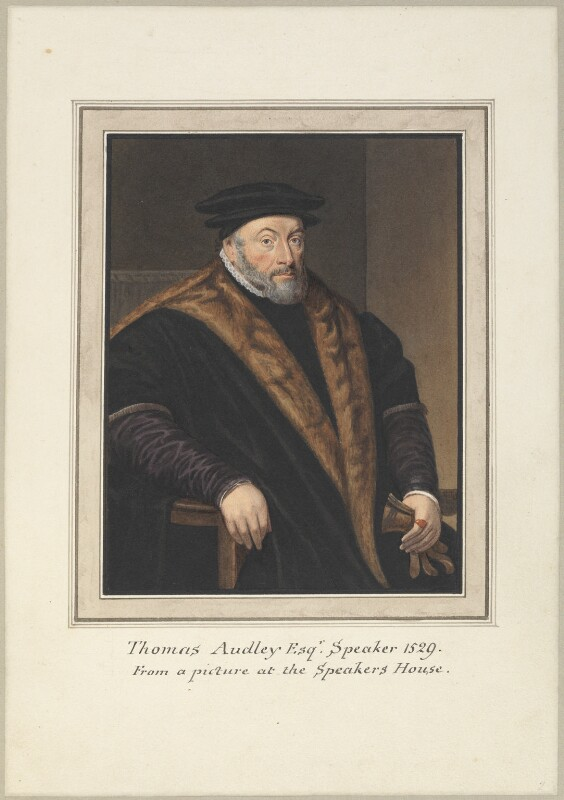 Thomas Audley, Baron Audley of Walden, attributed to Thomas Athow, after  Thomas Phillips, after  Hans Holbein the Younger, early 19th century - NPG D23247 - © National Portrait Gallery, London