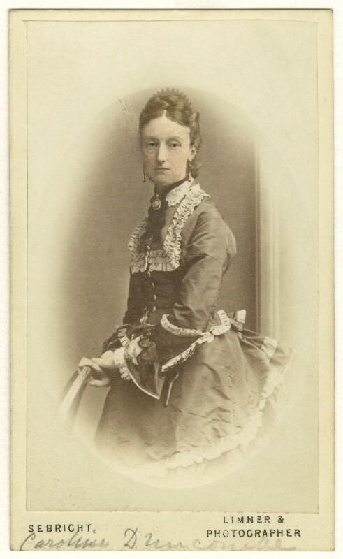 Caroline Alicia Georgiana Pauncefort-Duncombe, by George Sebright, 1870s - NPG Ax46440 - © National Portrait Gallery, London