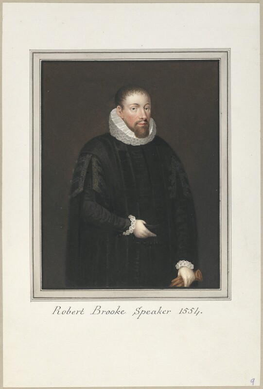Called Robert Brooke (Sir Robert Broke), attributed to Thomas Athow, after  Unknown artist, early 19th century - NPG D23251 - © National Portrait Gallery, London