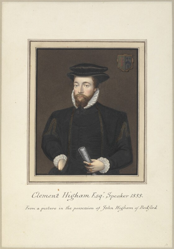 Called Clement Higham (Sir Clement Heigham), attributed to Thomas Athow, after  Unknown artist, early 19th century - NPG D23252 - © National Portrait Gallery, London