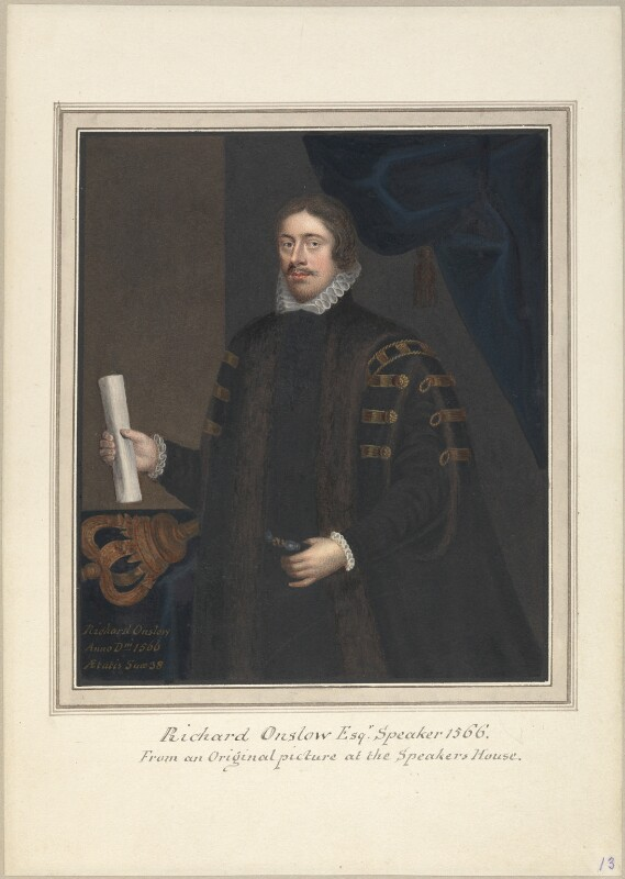 Possibly fictitious portrait of Richard Onslow, attributed to Thomas Athow, after  Unknown artist, after  Unknown artist, early 19th century - NPG D23253 - © National Portrait Gallery, London
