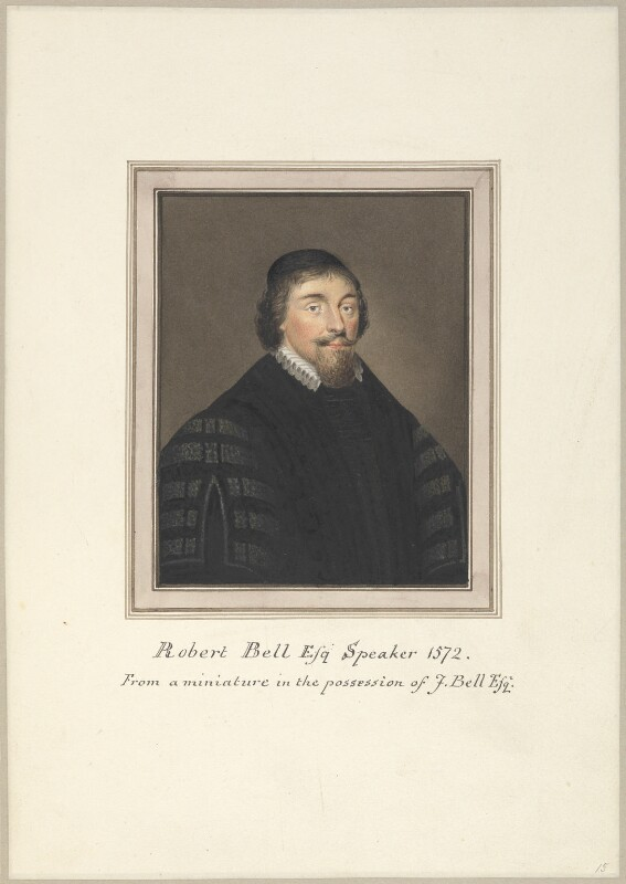 Sir Robert Bell, attributed to Thomas Athow, after  Unknown artist, early 19th century - NPG D23255 - © National Portrait Gallery, London
