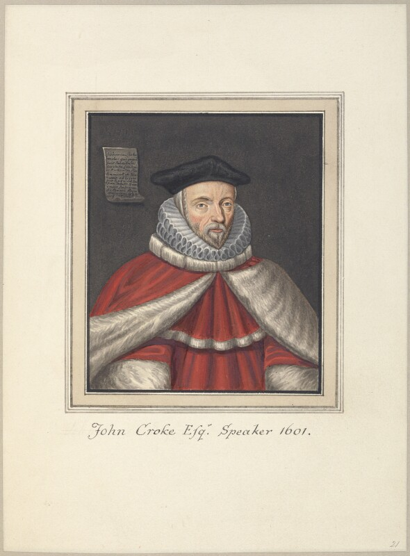 Sir John Croke, attributed to Thomas Athow, after  Unknown artist, early 19th century - NPG D23257 - © National Portrait Gallery, London