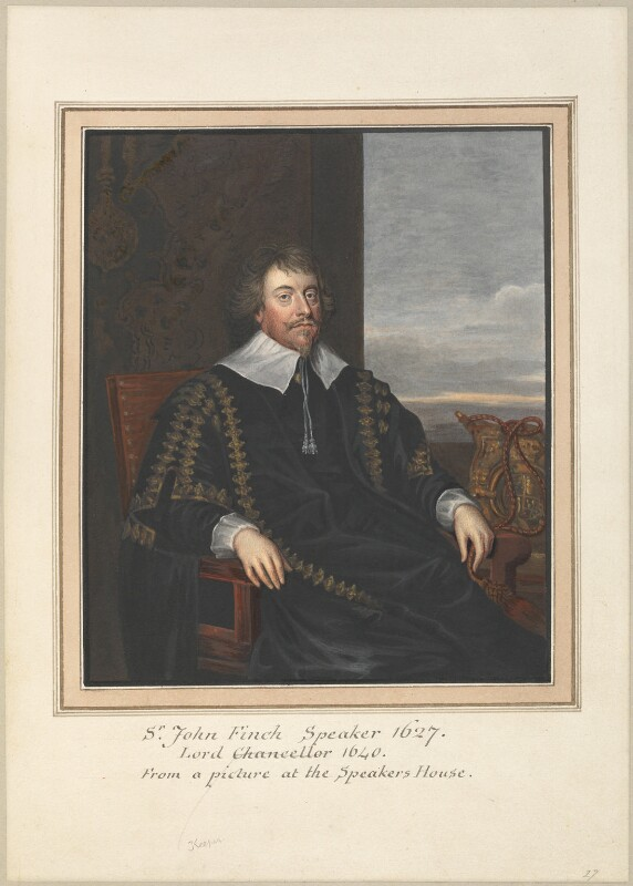 John Finch, Lord Finch of Fordwich, attributed to Thomas Athow, after  Unknown artist, probably after  Sir Anthony van Dyck, early 19th century - NPG D23263 - © National Portrait Gallery, London