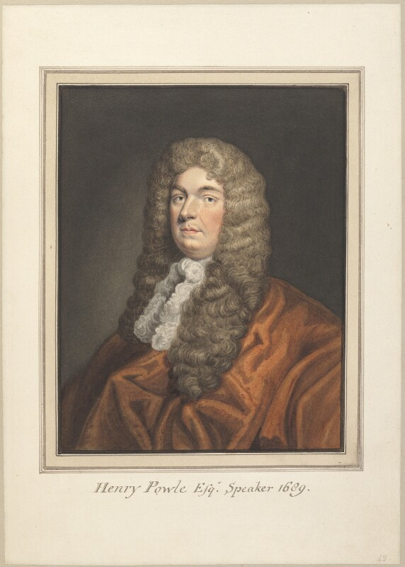 Henry Powle, attributed to Thomas Athow, possibly after  Sir Godfrey Kneller, Bt, early 19th century - NPG D23273 - © National Portrait Gallery, London