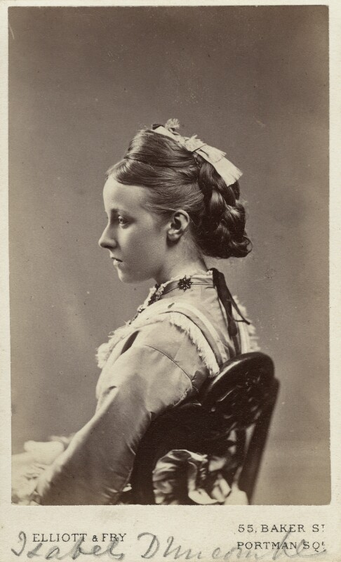 Isabel Margaretta Cockayne Flower (née Pauncefort-Duncombe), by Elliott & Fry, late 1860s - NPG Ax33509 - © National Portrait Gallery, London